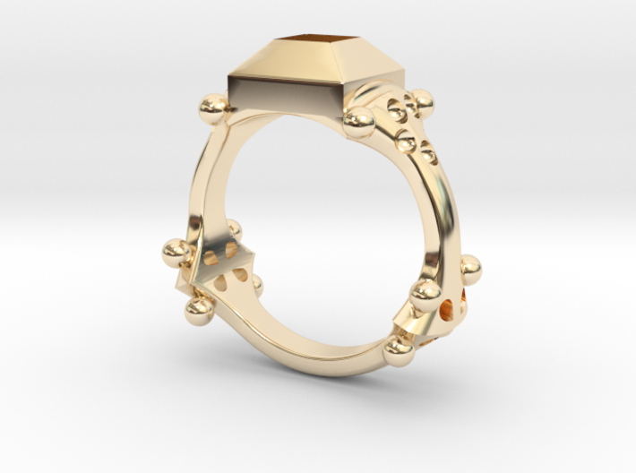 Ring Quatrefoil 3d printed