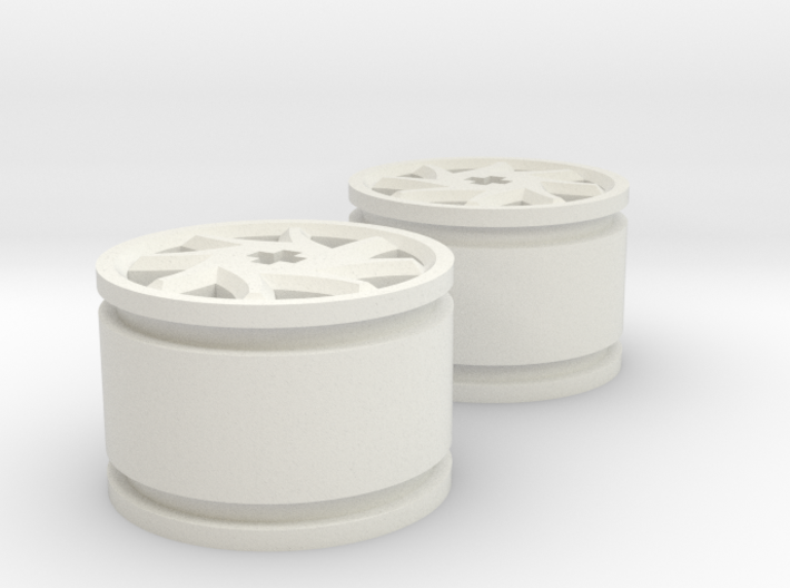 8-spoke rims 30mmØ model1 3d printed