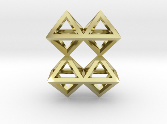 8 Pendant. Perfect Pyramid Structure. 3d printed