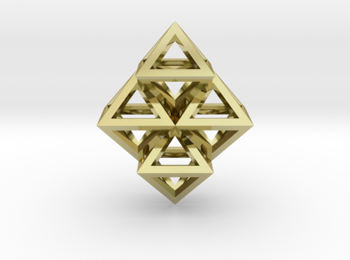 R8 Pendant. Perfect Pyramid Structure. 3d printed