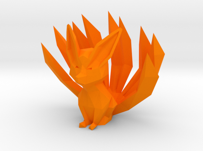 Low-poly Nine-Tailed Fox 3d printed