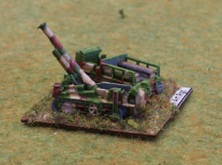 French 194mm GPF on St. Chamond 1/285 6mm 3d printed Model painted by Robert