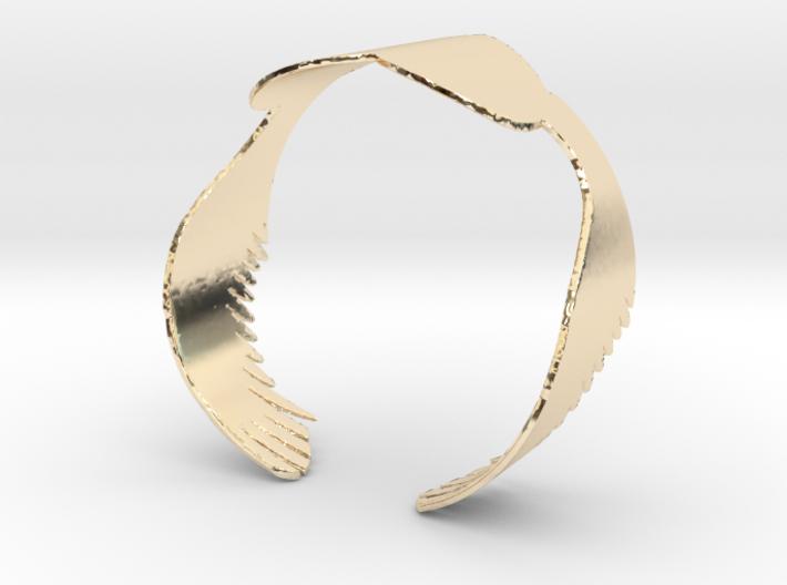 Flying Heart Bracelet Large 3d printed