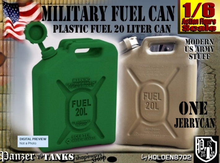 1-6 Military Fuel Can 3d printed