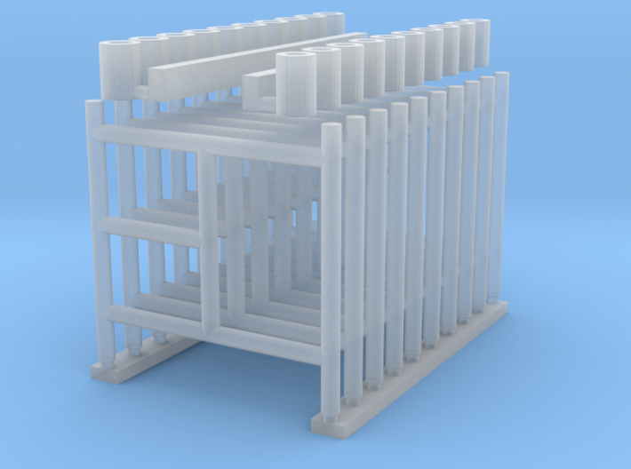 'HO Scale' - 5' Wide x 5' Tall Scaffolding 3d printed