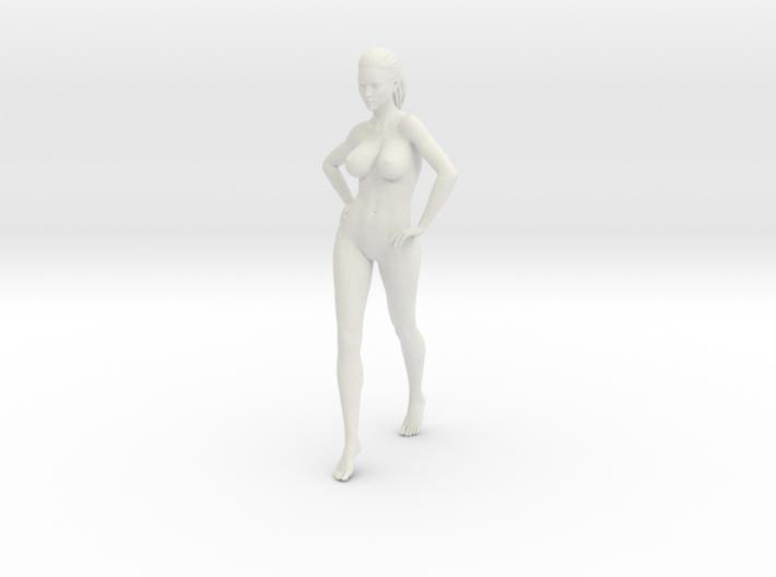 Long Ponytail Girl-003 3d printed