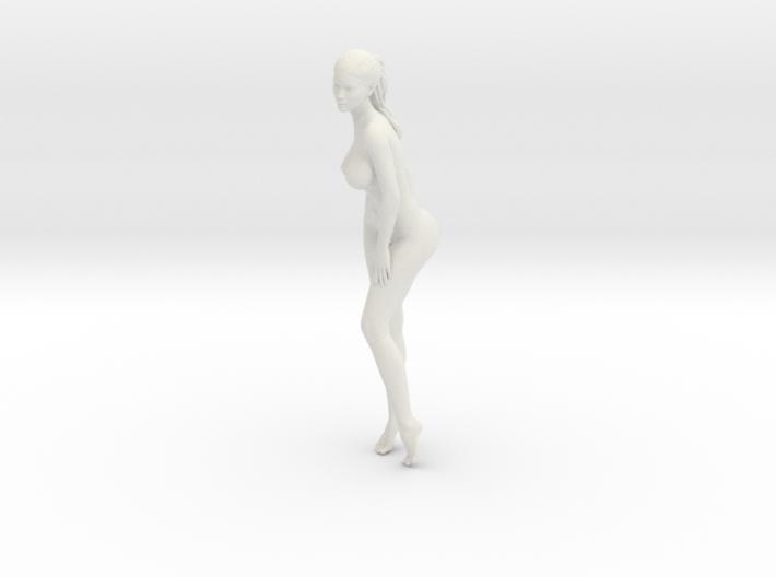 Long Ponytail Girl-025 3d printed