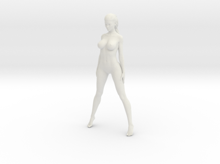 Long Ponytail Girl-027 3d printed
