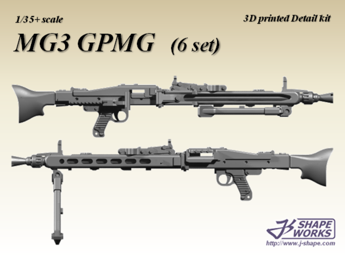1/35+ MG3 GPMG (6 set) 3d printed