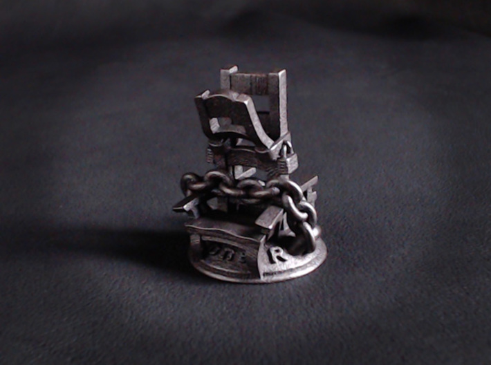 Loner 3d printed Shown in Polished Grey Steel