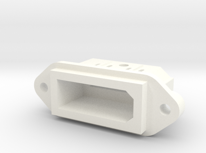 Wii Style Panel Mount Multiout Socket 3d printed