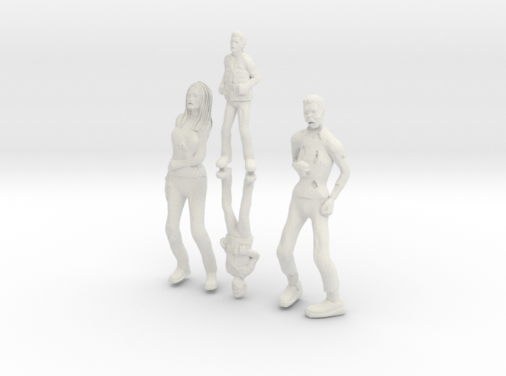 Zombie family 3d printed