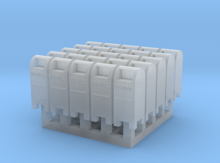 USPO Mail Collection Box - set of 25 - Zscale 3d printed