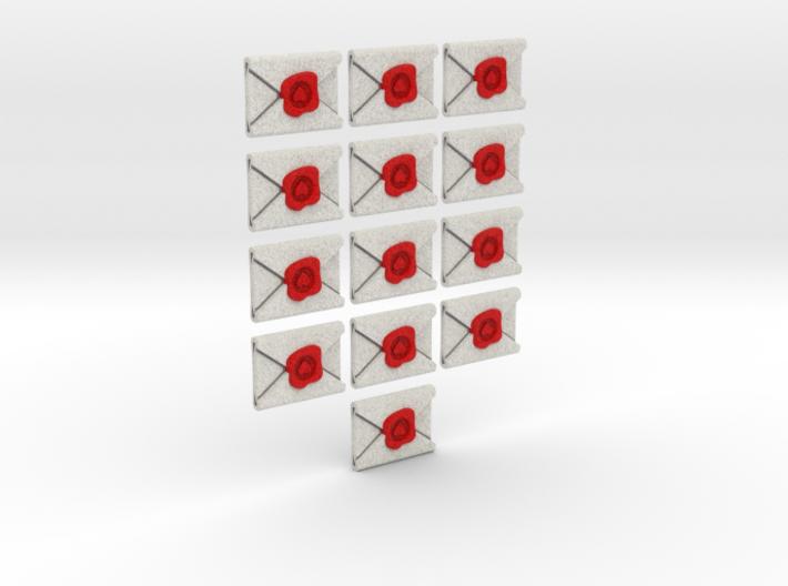 Love Letter - Full colour tokens (13pcs) 3d printed