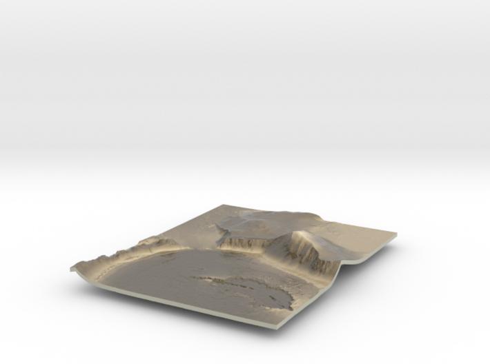 Mars Map: Lava Vent - Sepia 3d printed