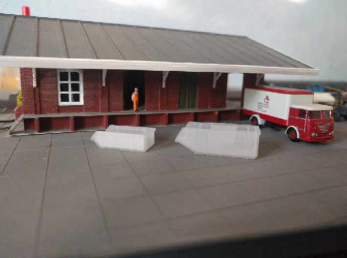 Afzetcontainers, 2x 6m3 en 2x 10m3 schaal N 3d printed