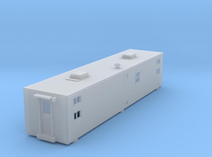 NS Camp Car Sleeper Trailer #1 (N) 3d printed Render of Revised Model