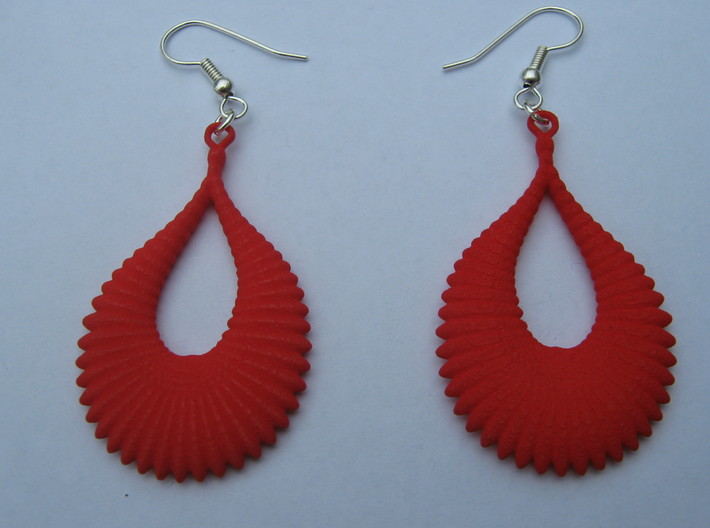 Fifty Ellipsoid Earrings 3d printed