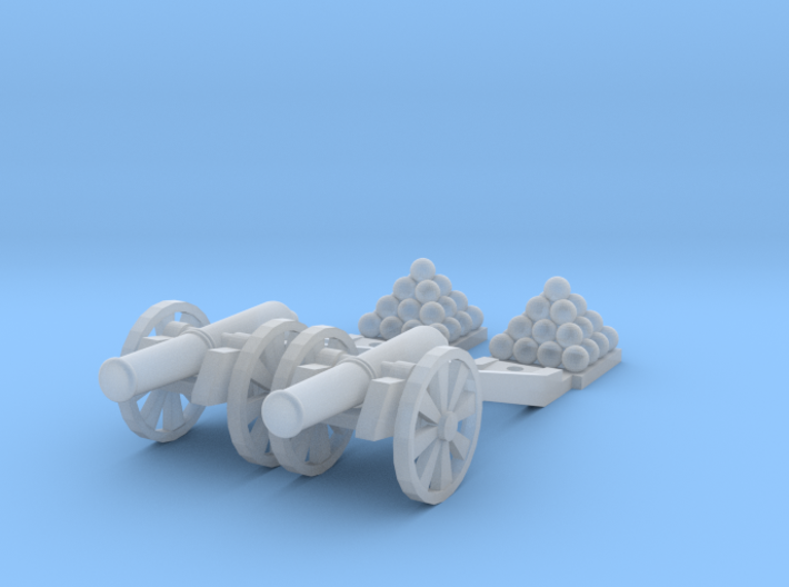 Cannon (Heavy) - Qty (2) N 160:1 Scale 3d printed