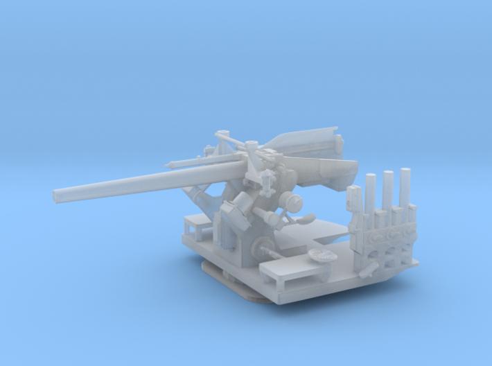 "1/125 5""/25 (12.7 cm) Deck AA Gun 3d printed"