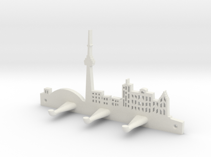 Toronto Skyline - Key Chain Holder Without Border 3d printed