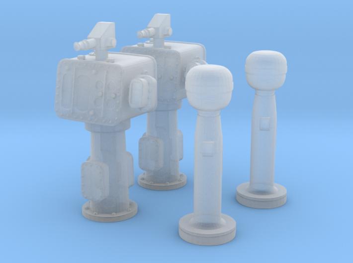 1/192 USN Torpedo Directors & Peloruses Set 3d printed