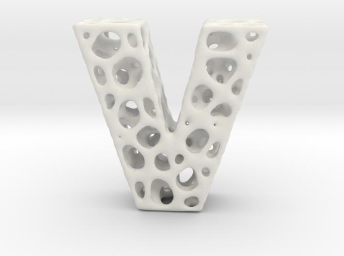 Voronoi Letter ( alphabet ) V 3d printed