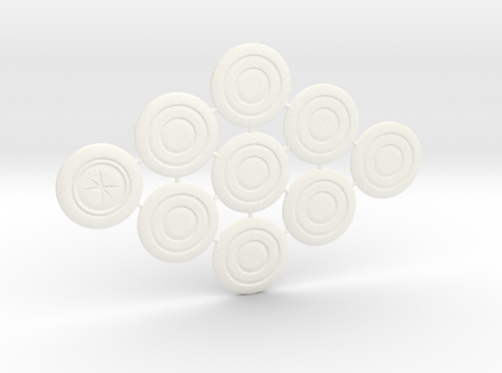 Descent Search tokens (9 pcs) 3d printed