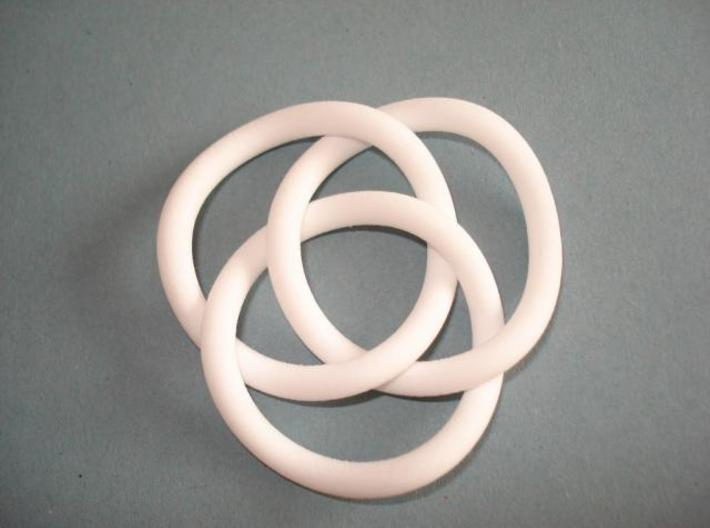 Brunnian Circles 3d printed Picture of the actual printed object
