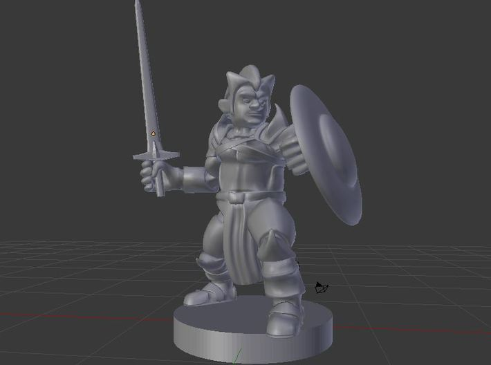 Gnome /Fighter/Cleric/Paladin 3d printed