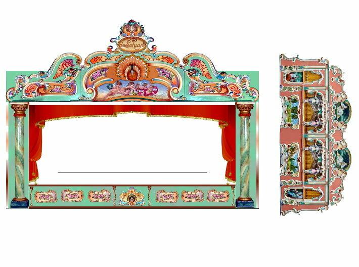 """""""Orgelwagen"""" - 1:220 (z scale) 3d printed Deko - decoration"""
