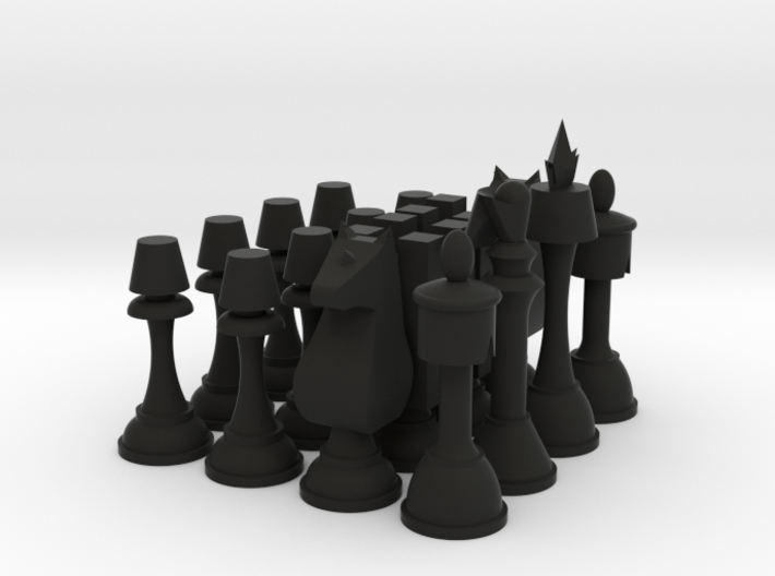 "Code Geass Chess Set 2.5"" Tall 3d printed"