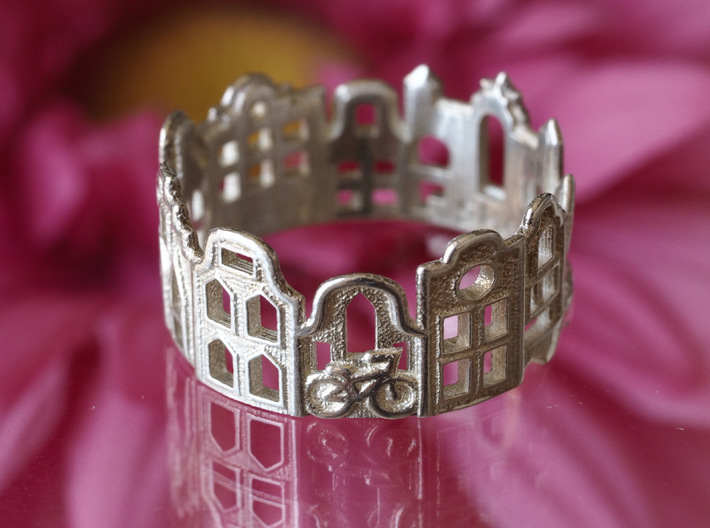 Amsterdam Cityscape - Skyline Ring 3d printed