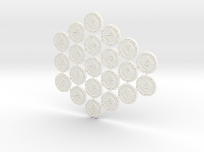 Descent Objective tokens - expansions (21 pcs) 3d printed