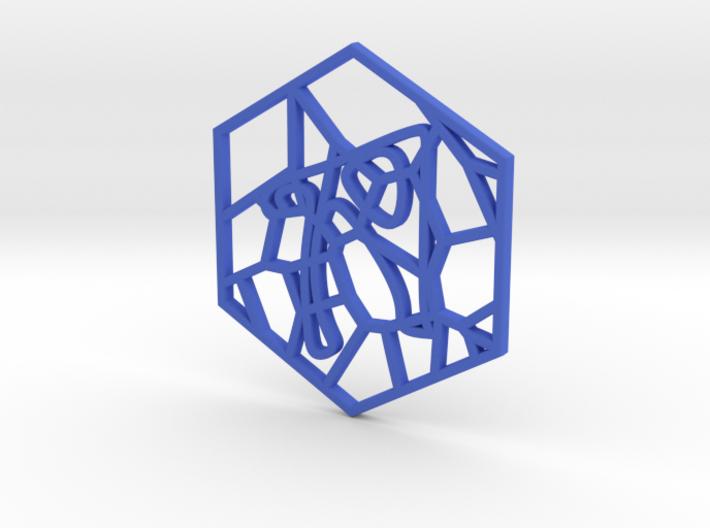 Personalised Voronoi Hexagonal Pattern Coaster (1) 3d printed Personalised Voronoi Hexagonal Pattern Coaster (1)