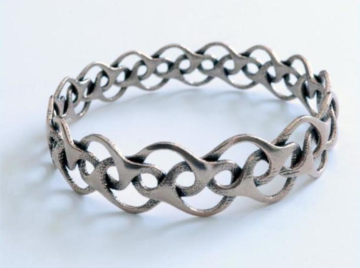 Bracelet I Medium 3d printed stainless steel