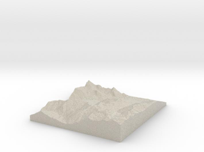Model of La Cajéra 3d printed
