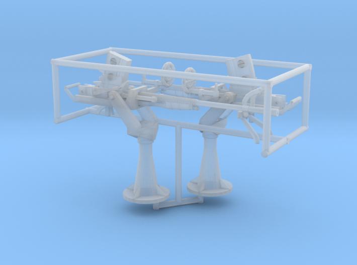 2 X 1/72 IJN Type 96 25mm Single Mount 3d printed