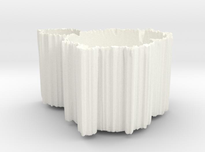 Mandelbrot Vase 1 with Base 3d printed
