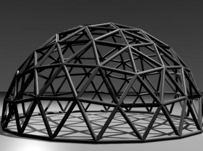 Geodesic Dome 3d printed Blender rendering