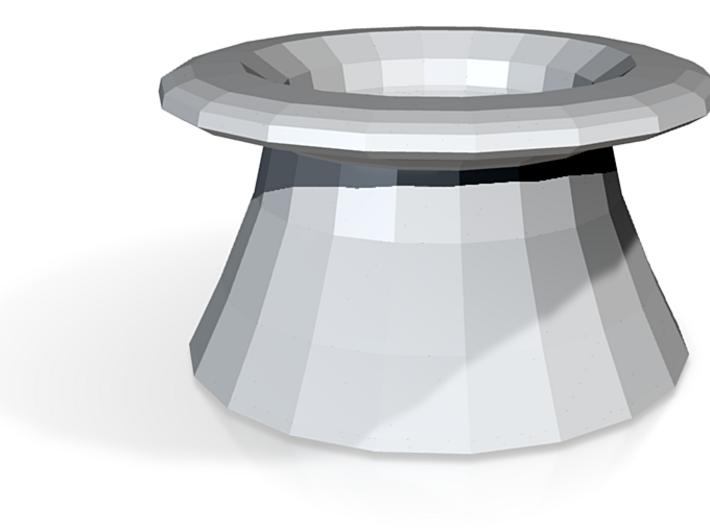 Top hat vase 3d printed