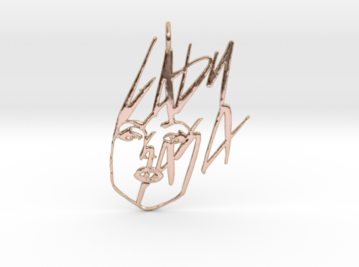 Lady Gaga Pendant - Exclusive Jewellery 3d printed