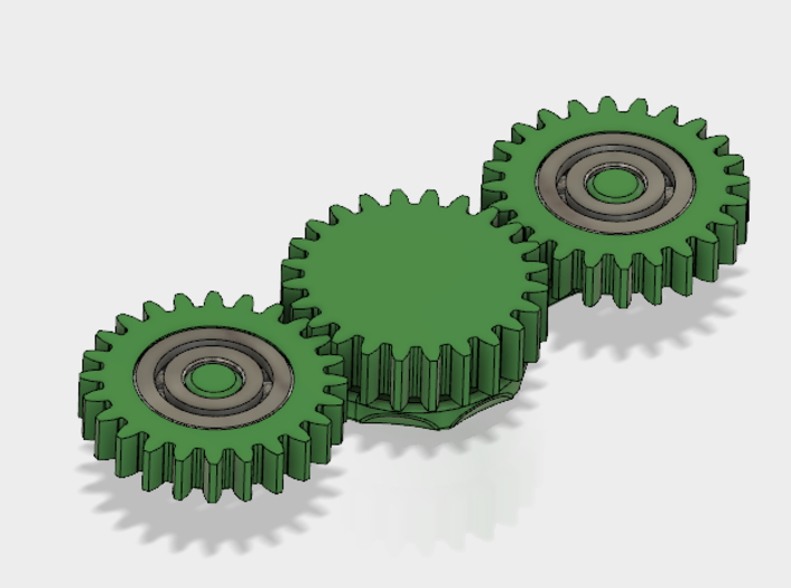 Gear Spinner 3d printed