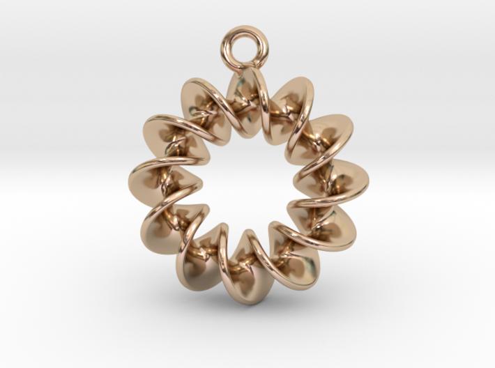 Helical Earring 1 3d printed