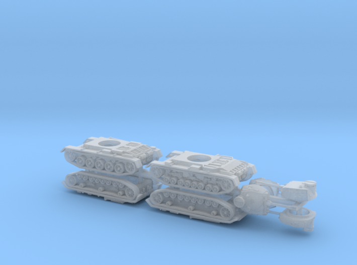 German Panzer III Variants A-D 1/285 3d printed
