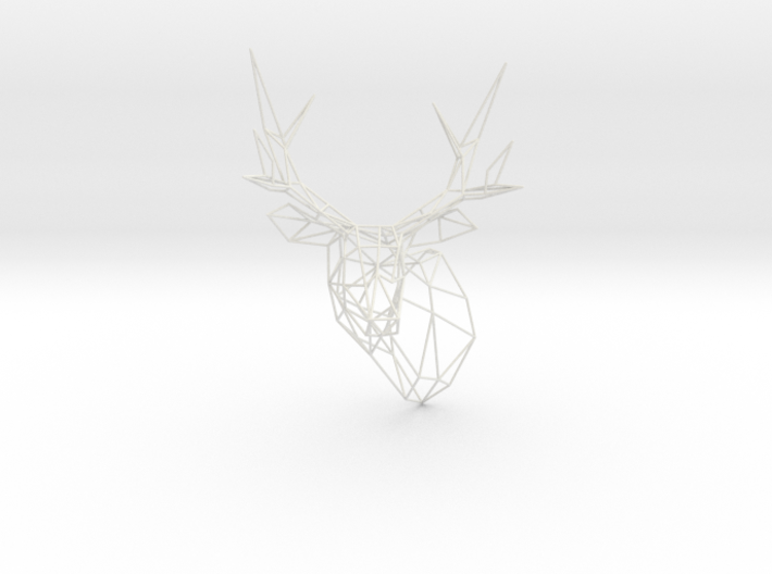 Stag Deer Trophy Head 300mm Facing Left 3d printed
