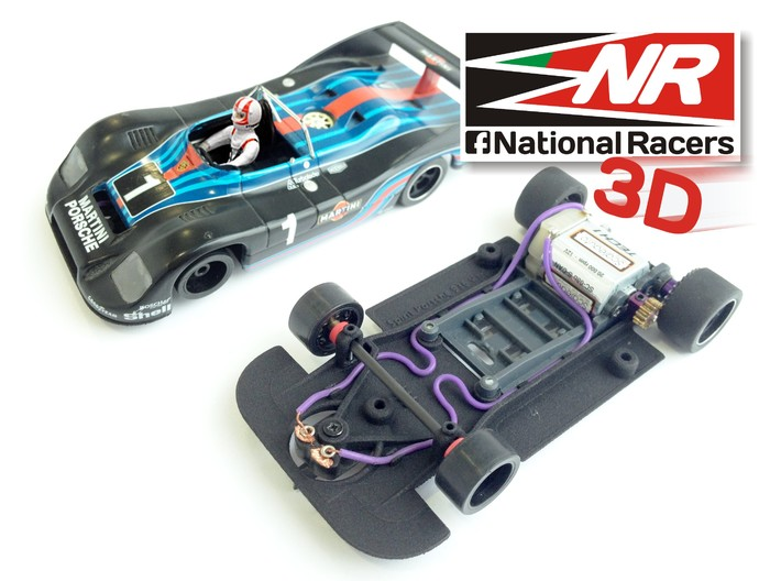 3D Chassis - Spirit Porsche 936 (SW/Inline) 3d printed Chassis compatible with SRC model (slot car and other parts not included)