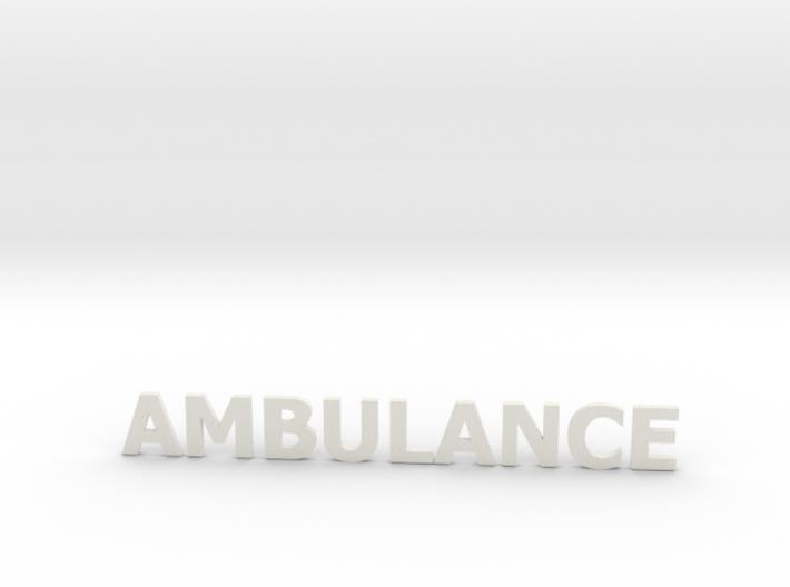 Ambulance letters zonder steun 86 mm 3d printed