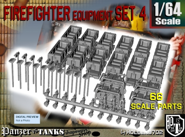 1-64 Firefighter Equipment Set 4 3d printed
