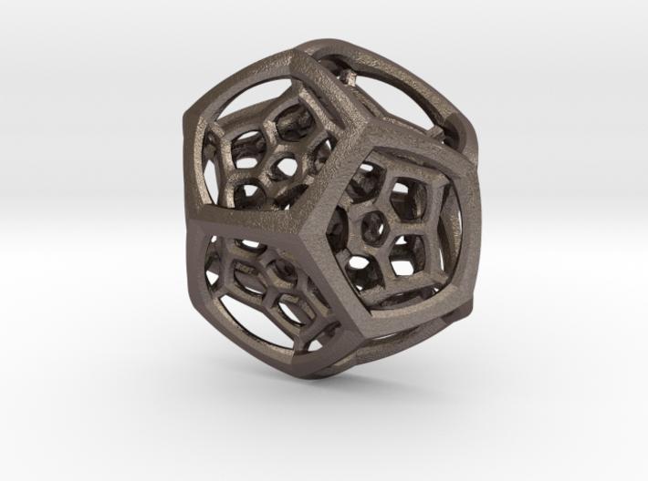 Dodecaplex Pendant 3d printed